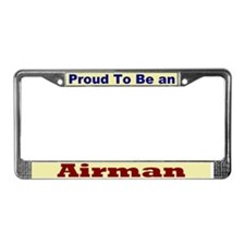 Hug an Airman License Plate Frame