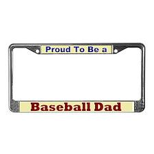 Hug a Baseball Dad License Plate Frame