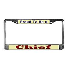 Hug a Chief License Plate Frame