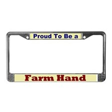 Hug a Farm Hand License Plate Frame