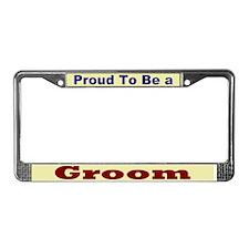 Hug a Groom License Plate Frame