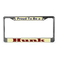 Hug a Hunk License Plate Frame