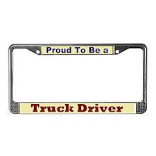 Hug a Truck Driver License Plate Frame