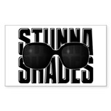 Stunna Shades Rectangle Decal