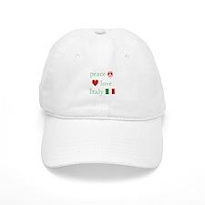 Peace, Love and Italy Baseball Cap