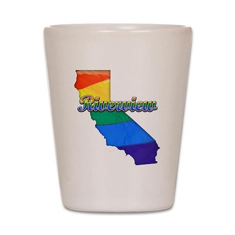 Riverview, California. Gay Pride Shot Glass
