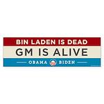 Bin Laden Dead, Auto Industry Alive Sticker (Bumpe