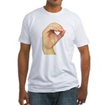 ASL Letter O Fitted T-Shirt