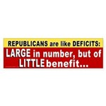 Republicans are like Deficits Sticker