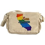 San Simeon, California. Gay Pride Messenger Bag