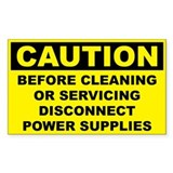 Caution Before Cleaning or Servicing Disconnect