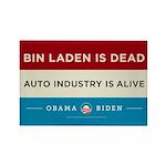 Bin Laden Dead, Auto Industry Alive Rectangle Magn