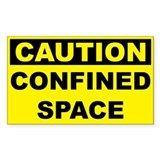 Caution Confined Space