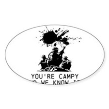 No Camping! Decal