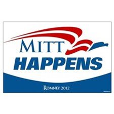 Mitt Happens Large Poster