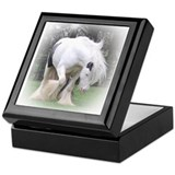 All White Stallion Keepsake Box