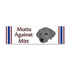 Mutts Against Mitt Car Magnet 10 x 3