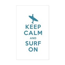 Keep Calm and Surf On Decal