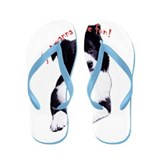 border collie Flip Flops