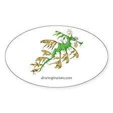 Sea Dragon Oval Stickers