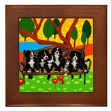 BERNESE MOUNTAIN DOGS Framed Tile