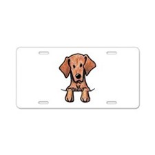 Pocket Vizsla Aluminum License Plate