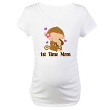 1st Time Mom Monkey Gift Shirt