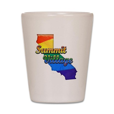 Summit Village, California. Gay Pride Shot Glass