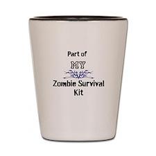 Zombie Survival Kit Shot Glass