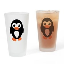 Cute Penguin Drinking Glass