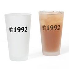 1992 Drinking Glass