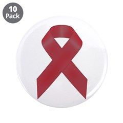 "Awareness Ribbon 3.5"" Button (10 pack)"