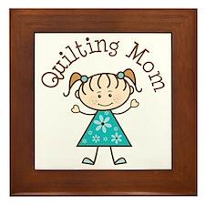 Quilting Mom Gift Framed Tile