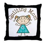 Quilting Mom Gift Throw Pillow