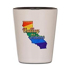 Valley Home, California. Gay Pride Shot Glass