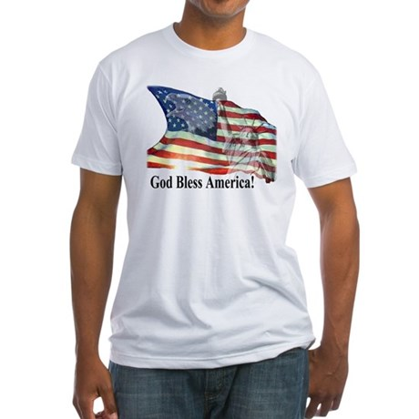 God Bless America! Fitted T-Shirt