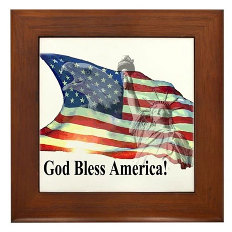 God Bless America! Framed Tile