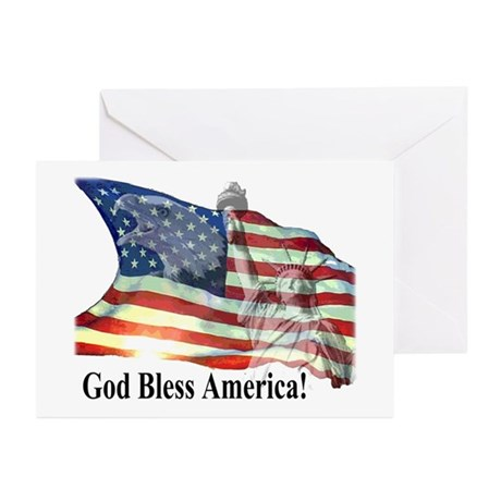 God Bless America! Greeting Cards (Pk of 10)