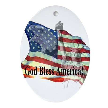 God Bless America! Oval Ornament