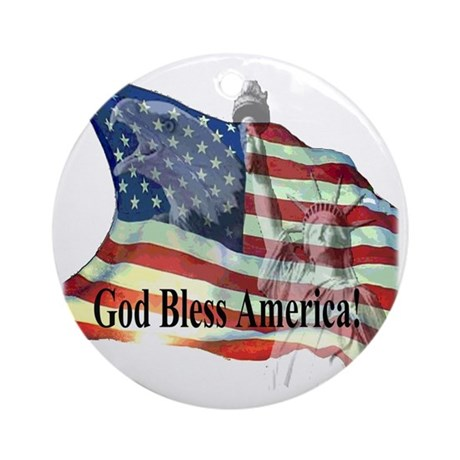 God Bless America! Ornament (Round)