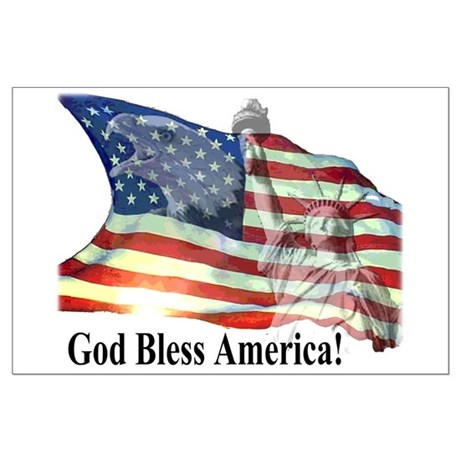 God Bless America! Large Poster
