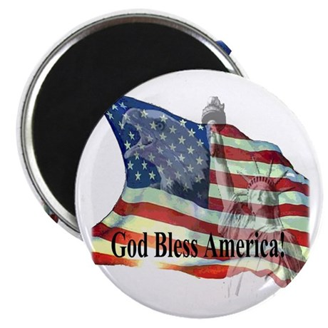"God Bless America! 2.25"" Magnet (100 pack)"
