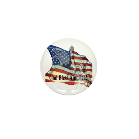 God Bless America! Mini Button (100 pack)