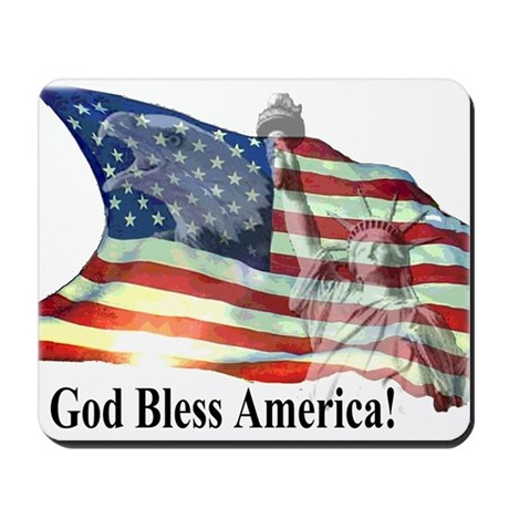 God Bless America! Mousepad