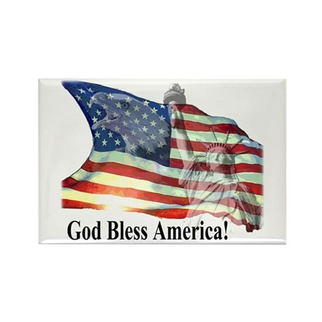God Bless America! Rectangle Magnet