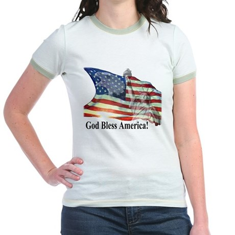 God Bless America! Jr. Ringer T-Shirt