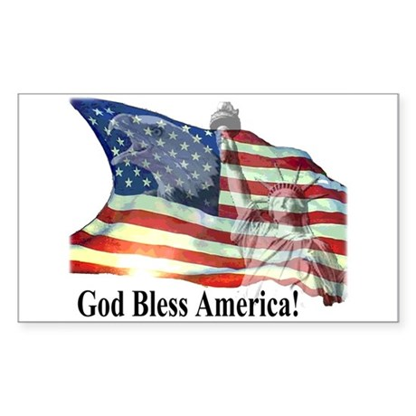 God Bless America! Rectangle Sticker