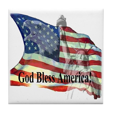 God Bless America! Tile Coaster