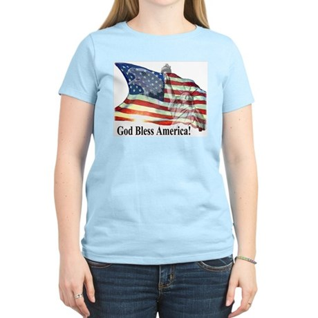 God Bless America! Women's Pink T-Shirt
