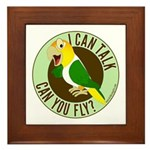ICT,CYF White Bellied Caique Framed Tile